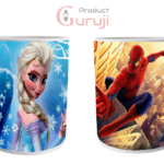 Frozen Elsa and Spider Man White Ceramic Combo Coffee Mug 2 - Product GuruJi