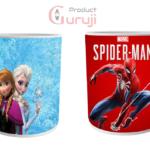 Elsa Anna and Spider Man White Combo Coffee Mug 2 - Product GuruJi