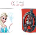 Elsa Avenger White Ceramic Combo Coffee Mug for Kids 2 - Product GuruJi