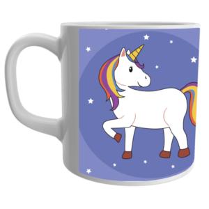 Unicorn design print on mug- unicorn cartoon printed mug for kids 11 - Product GuruJi