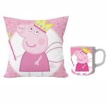 Peppa pig designer cushion with cushion cover with filler and coffee mug | Cartoon peppa pig - Pillow Cover: 12 x 12 inch & coffee mug: 350 ml combo pack. 1 - Product GuruJi