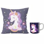Unicorn designer cushion with cushion cover with filler and coffee mug | Cartoon unicorn - Pillow Cover: 12 x 12 inch & coffee mug: 350 ml combo pack gift for sister on Rakhi*BhaiDooj-Birthday-Everyday Gifting. 1 - Product GuruJi