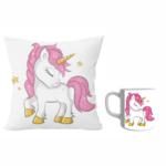Unicorn designer cushion with cushion cover with filler and white ceramic coffee mug | Cartoon unicorn - Pillow Cover: 12 x 12 inch & white ceramic coffee mug: 350 ml combo pack gift for sister on Rakhi*BhaiDooj-Birthday-Everyday Gifting. 2 - Product GuruJi