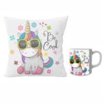 Unicorn designer cushion with cushion cover with filler and coffee mug | Cartoon Unicorn - Pillow Cover: 12 x 12 inch & coffee mug: 350 ml combo pack. 2 - Product GuruJi