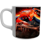 """SPIDERMAN"" Printed Ceramic White Tea and Coffee Ceramic Mug , coffee mug for kids,spiderman design printed coffee mug for kids,spiderman coffee mug for gifts 1 - Product GuruJi"