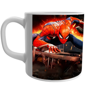 """SPIDERMAN"" Printed Ceramic White Tea and Coffee Ceramic Mug , coffee mug for kids,spiderman design printed coffee mug for kids,spiderman coffee mug for gifts 2 - Product GuruJi"