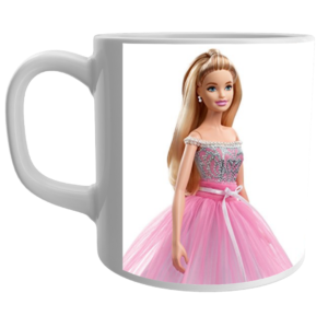Barbie Doll Mugs, Barbie Gifts for Girls, Girls Birthday Items, Barbie Doll White Ceramic Mug,gift for kids, 12 - Product GuruJi