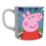 Peppa Pig Coffee Mug, Peppa Pig Gift for Kids, Peppa Pig Birthday Items, Peppa Pig Ceramic White Mug 2 - Product GuruJi