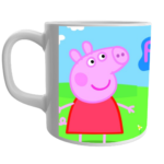 White Ceramic Peppa Pig Design Coffee Mugs Best Gift for Kids Children,Peppa Pig Design Mug for Kids,Best Gifts for Kids,White Ceramic Coffee Mug for Kids 1 - Product GuruJi