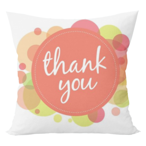 Thank you design cushion with cushion cover 9 - Product GuruJi
