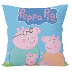 Peppa pig cartoon design cushion with cushion cover 7 - Product GuruJi