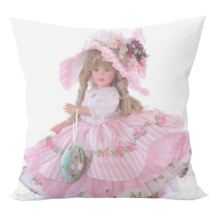 Cute barbie doll cushion with cushion cover 11 - Product GuruJi