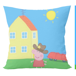 Peppa pig cartoon cusion with cushion cover 3 - Product GuruJi