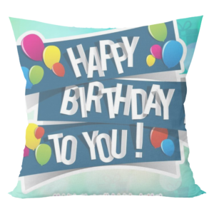 Musicar Happy birthday Print Cushion with cushion cover 10 - Product GuruJi