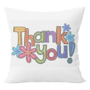 Musicar Thankyou Print Cushion  with cushion cover 5 - Product GuruJi