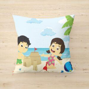 Cartoon design print cushion with cushion cover for kids 12 - Product GuruJi