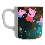 Peppa pig family cartoon coffee mug, Peppa pig toys white ceramic coffee mug for kids 1 - Product GuruJi