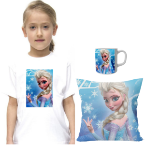 Product guruji Doll Cartoon White Round Neck Regular Fit Premium Polyester Tshirt with Cushion and Mug. 8 - Product GuruJi
