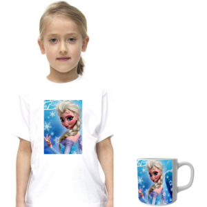 Product guruji Doll Cartoon White Round Neck Regular Fit Premium Polyester Tshirt with Mug. 11 - Product GuruJi