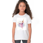 Doll Sketch Design Tshirt For Girls, Cartoon Tshirt For Girls.. 2 - Product GuruJi