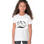 Radha krishna Sketch Design Tshirt For Girls, Cartoon Tshirt For Girls.. 2 - Product GuruJi