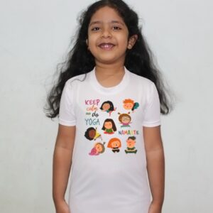 Buy Girls Cartoon White Round Neck Regular Fit Premium Polyester Tshirt for Girls. 6 - Product GuruJi