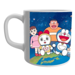 Product Guruji Product Guruji White Ceramic Doraemon Toons Coffee Mug for Kids/Children.White Ceramic  Doraemon Cartoon on Mug for Kids/Children. 1 - Product GuruJi