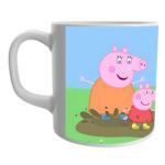 Product Guruji White Ceramic Peppa pig Cartoon on Mug for Kids/Children. 2 - Product GuruJi