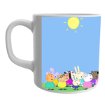 Product Guruji White Ceramic Peppa Pig Toon Coffee Mug for Friends/Kids. 1 - Product GuruJi