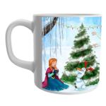 Product Guruji White Ceramic Elsa Frozen Doll Cartoon on Coffee Mug for Kids/Girls. 2 - Product GuruJi