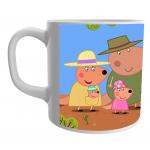 Product Guruji White Ceramic Peppa Pig Cartoon on Coffee Mug for Kids/Gift.… 1 - Product GuruJi