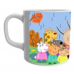 Product Guruji Peppa pig Friend Cartoon White Ceramic Coffee/Tea Mug for Kids.… 2 - Product GuruJi