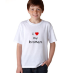 Product guruji 'I LOVE MY BROTHER' Text Design White Round Neck Regular Fit Premium Polyester Tshirt. 1 - Product GuruJi