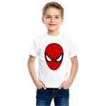 Product guruji Spidermen White Round Neck Regular Fit Premium Polyester Tshirt for Boys. 1 - Product GuruJi