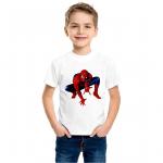 Product guruji Spidermen White Round Neck Regular Fit Premium Polyester Tshirt for Boys/Kids. 1 - Product GuruJi
