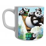 Product Guruji Kung Fu Panda Warrior Cartoon Printed  White Ceramic Coffee/Tea Mug for Kids.… 1 - Product GuruJi
