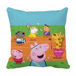 Product Guruji - Peppa pig cartoon white cushion 12x12 with filler for kids 1 - Product GuruJi