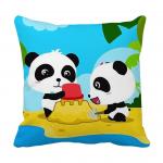Product Guruji - Panda Toons & Characters Cushion 12x12 with filler for kids, cartoon cushion for baby kids 1 - Product GuruJi