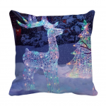 Product Guruji - Christmas cartoon design cushion 12x12 with filler for kids 2 - Product GuruJi