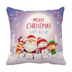 Product Guruji - Santa clous Christmas cartoon design cushion 12x12 with filler for kids 1 - Product GuruJi