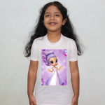 Product guruji Shimmer shine Toon Doll White Round Neck Regular Fit Premium Polyester Tshirt for Girls.… 1 - Product GuruJi