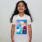 Product guruji Elsa frozen Toon Doll White Round Neck Regular Fit Premium Polyester Tshirt for Girls.… 2 - Product GuruJi