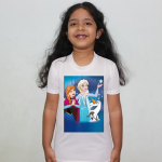 Product guruji Elsa frozen Toon Doll White Round Neck Regular Fit Premium Polyester Tshirt for Kids/Girls.… 2 - Product GuruJi