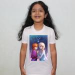 Product guruji Elsa frozen Toons  White Round Neck Regular Fit Premium Polyester Tshirt for Girls.… 1 - Product GuruJi