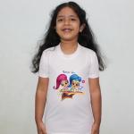 Product guruji Shimmer shine Cartoon Doll White Round Neck Regular Fit Premium Polyester Tshirt for Kids.… 1 - Product GuruJi