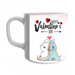 Product Guruji 'Happy Valentine's Day' Print White Ceramic Coffee Mug for Gifts 1 - Product GuruJi