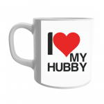Product Guruji 'I Love Husband' Print White Ceramic Coffee/Tea Mug for Gifts.. 2 - Product GuruJi