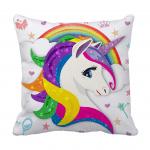 Product Guruji -  Unicorn Cushion  for kids ,Unicorn cushion 12x12 with filler for kids, cartoon cushion for kids 1 - Product GuruJi