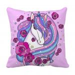 Product Guruji - Unicorn Cushion  for kids ,Unicorn cushion 12x12 with filler for kids. 1 - Product GuruJi